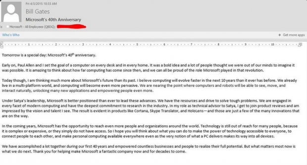 bill gates email