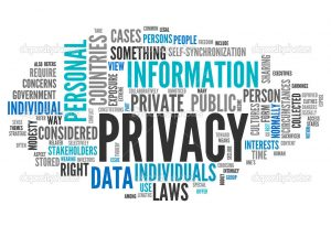 Word Cloud with Privacy related tags